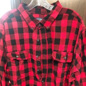 Faded Glory Shirts - Classic Red checked Flannel Shirt 3XL Faded Glory